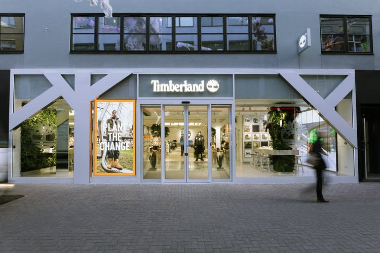 Timberland Carnaby store exterior